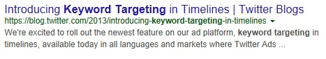 Twitter-keyword-targeting